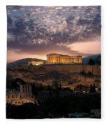 Ruins Of A Temple, Athens, Attica Fleece Blanket