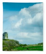Ruins Of Irish Castle Fleece Blanket