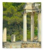 Ruins Of Roman Columns In Glanum  Fleece Blanket
