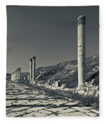 Ruins Of Roman-era Columns Fleece Blanket