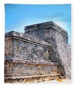 Ruins Of Tulum Mexico Fleece Blanket