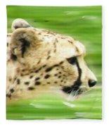 Run Cheetah Run Fleece Blanket