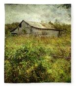 Run Down Barn Fleece Blanket