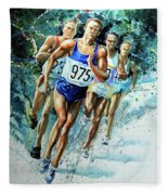 Run For Gold Fleece Blanket