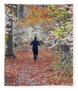 Run Through The Woods Fleece Blanket