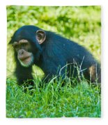 Running Chimp Fleece Blanket