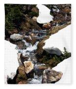 Running Down The Mountain Fleece Blanket