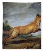 Running Fox Fleece Blanket