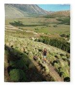 Running In Esquel, Chubut, Argentina Fleece Blanket