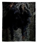 Running In The Shadows Fleece Blanket