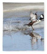 Running On Water Fleece Blanket