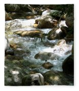 Running Over Rocks Fleece Blanket
