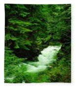 Running Through The Forest  Fleece Blanket