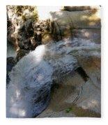 Running Waters Of Sabbaday Falls Fleece Blanket