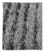 Rural America Black And White Fleece Blanket