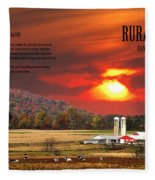 Rural Barns  My Book Cover Fleece Blanket