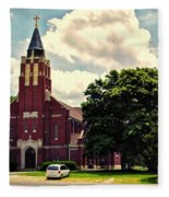 Rural Church Usa Fleece Blanket