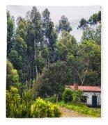 Rural House Fleece Blanket