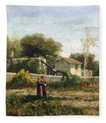 Rural Landscape Fleece Blanket