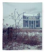 Rural Mansion Fleece Blanket