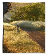 Rural Road 2am-009691 Fleece Blanket