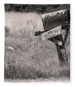 Rural Route Mail Call  Fleece Blanket