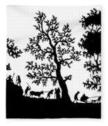 Rural Scene Fleece Blanket