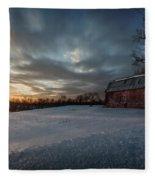 Rural Sunset Fleece Blanket