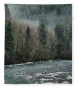 Rushing Mckenzie River Fleece Blanket