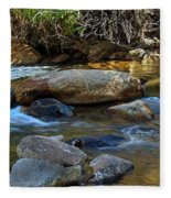 Rushing Mountain Stream Fleece Blanket