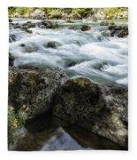 Rushing Stream Fleece Blanket