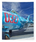 Russian Aircraft Mig At Interpid Museum Fleece Blanket