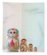 Russian Dolls Fleece Blanket