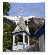 Russian Orthodox Church Bell Tower Fleece Blanket