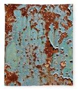 Rust And Paint Fleece Blanket