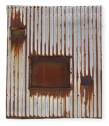 Rust And Window 3 Fleece Blanket