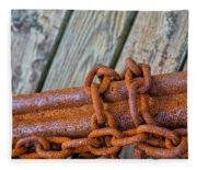 Rusted Chained Fleece Blanket