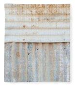 Rusted Metal Background Fleece Blanket