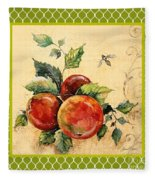 Rustic Apples On Moroccan Fleece Blanket