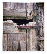 Rustic Barn Door Fleece Blanket