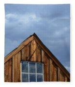 Rustic Cabin Window Fleece Blanket