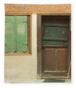 Rustic Door Fleece Blanket