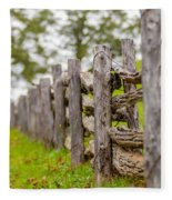 Rustic Home Made Split Rail Fence In The Mountains Of North Caro Fleece Blanket by Alex Grichenko