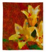 Rustic Lilies Fleece Blanket