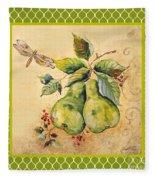 Rustic Pears On Moroccan Fleece Blanket