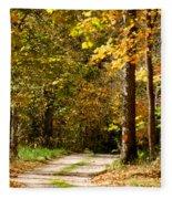 Rustic Road Fleece Blanket