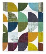 Rustic Rounds 2.0 Fleece Blanket