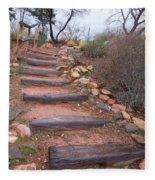 Rustic Stairway Fleece Blanket