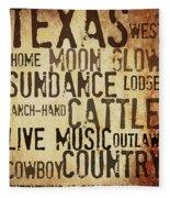 Rustic Texas Art Fleece Blanket