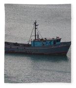 Rusty Boat Fleece Blanket